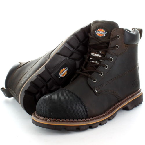 b7f23dfd2dd Dickies Crawford Work Boots Leather Steel Toe Cap Safety